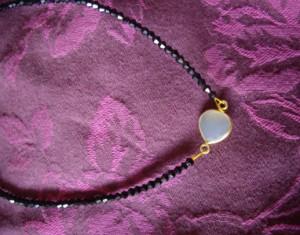 Κολιέ με ροζ quartz Κωδικός: 14104_1