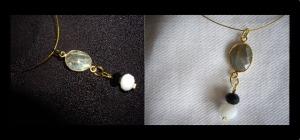 Κοντό κολιέ με ημιπολύτιμη πέτρα και κρυστάλλινες χάντρες Τιμή: 9 € Κωδικός: 23104_1